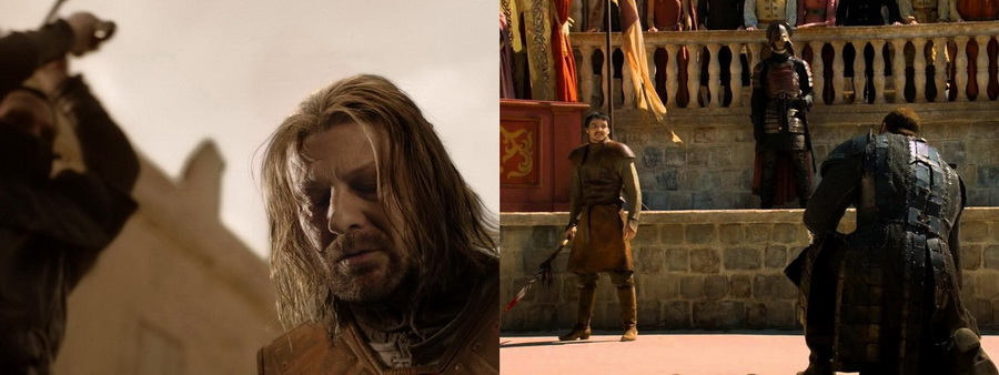 Game of thrones deaths Ned & Oberyn