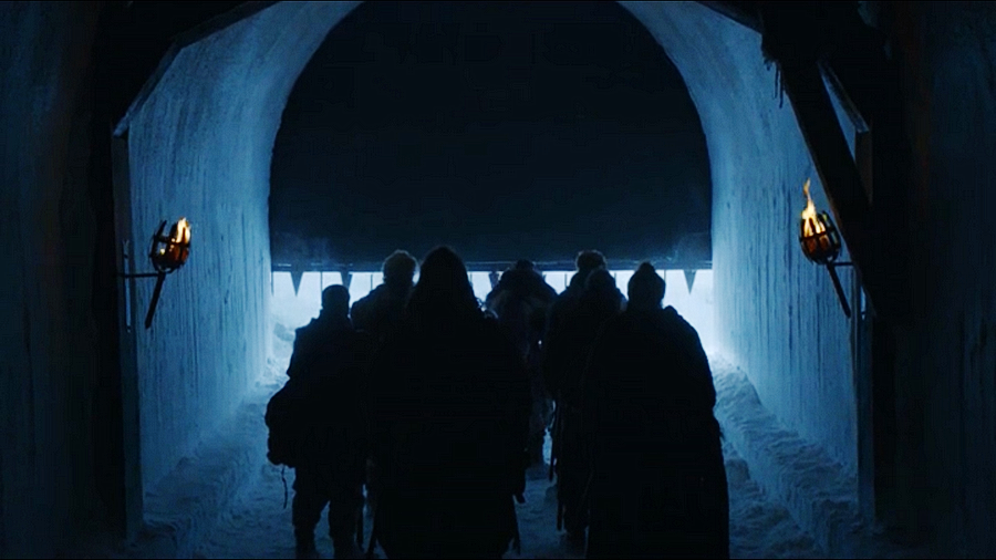Jon goes beyond the wall Game of thrones S07E05