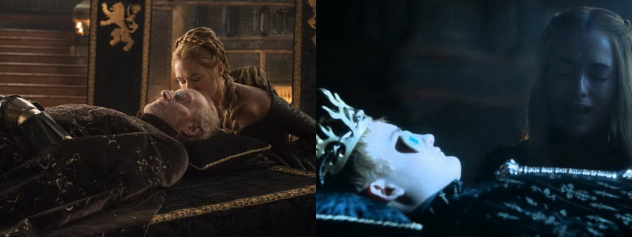 Tywin Lannister & King Joffrey Dead Cersie watches them